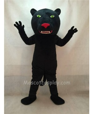 High Quality Black Panther Mascot Costume with Green Eyes