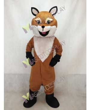 Cute English Fox Mascot Costume with a Big Tail