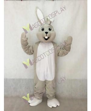 Happy Easter Gray Bunny Rabbit Mascot Costume
