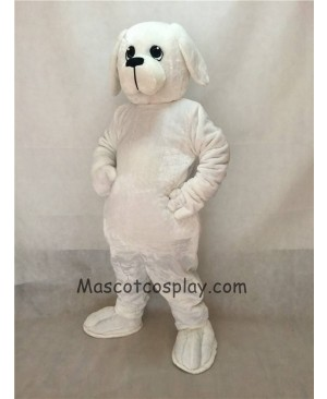 High Quality Popular White Nipper Dog Mascot Costume