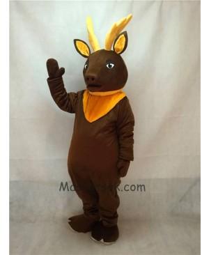 High Quality Brown Regal Elk Deer Mascot Costume