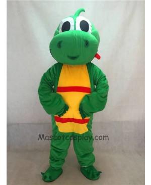 High Quality Green Yoshi Dinosaur Mascot Adult Costume