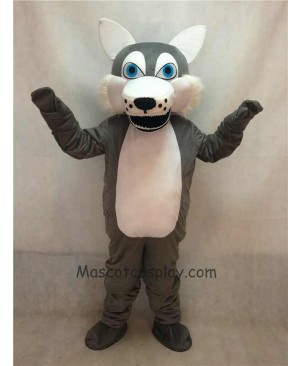 High Quality Gray Wolf Adult Mascot Costume