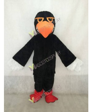Black Fighting Hawk Mascot Costume