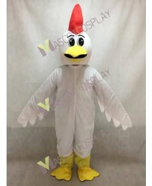 Cute White Chicken Surprise Mascot Costume