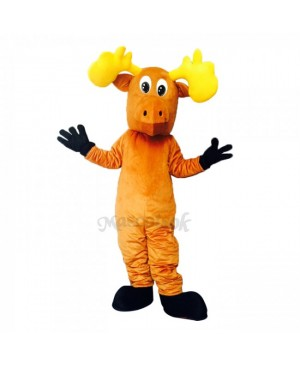 New Cartoon Moose with Black Feet Costume Mascot