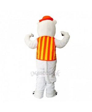 New Happy Rhino with Hat Mascot Costume