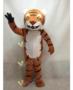 New Tiger Mascot Costume with Black Stripes