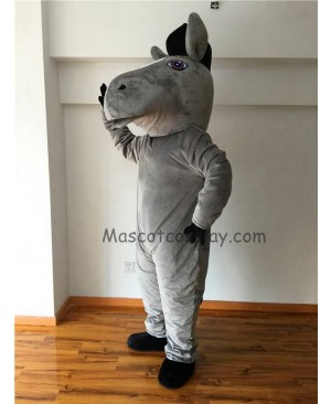 Cute New Gray Mustang Horse Mascot Costume