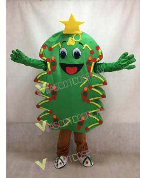 Green Christmas Tree Adult Mascot Costume