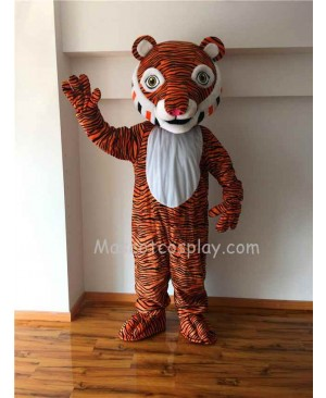Cute Comic Tiger Mascot Costume