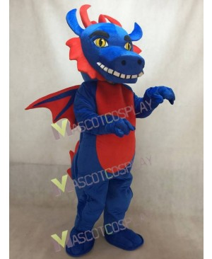 Custom Order Blue and Red Dragon Mascot Costume