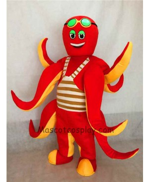 High Quality Ocean Creature Red Octopus Mascot Costume