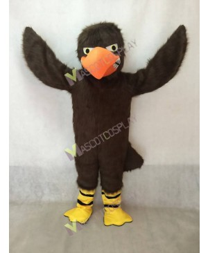 Hot Sale Brown Fierce Falcon Mascot Costume with Orange Beak
