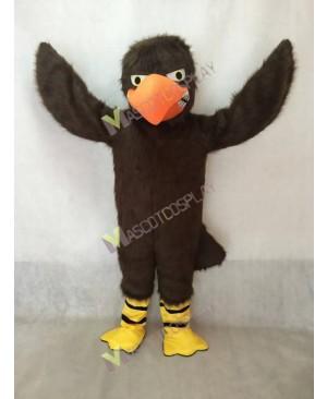 Hot Sale Brown Fierce Falcon Mascot Costume with Orange Beak