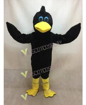 Black Hair Bird Plush Mascot Costume