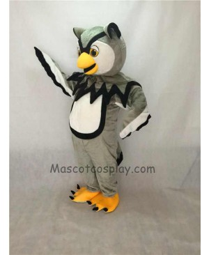 Cute Gray Cool Owl Mascot Costume