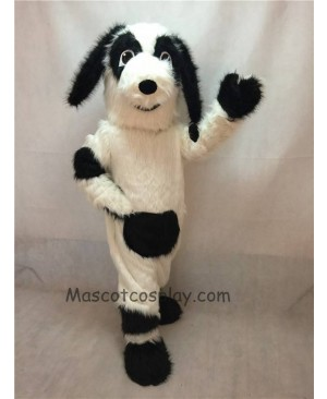 High Quality White and Black Fido Dog Mascot Costume
