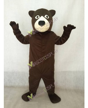 High Quality Realistic New Friendly Fat Brown Bear Mascot Costume
