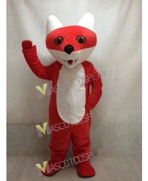 New Custom Color Cartoon Red Fox Mascot Costume
