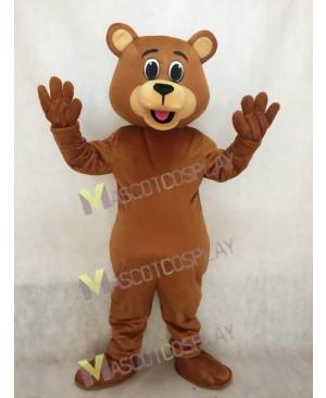 Lucky Dark Brown Bear Mascot Costume