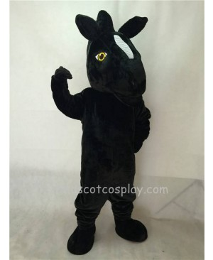 Fierce New Black Mustang Horse Mascot Costume