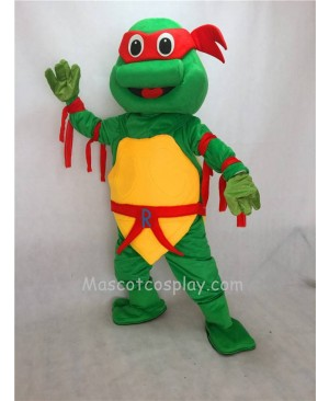 Red TMNT Raphael Teenage Mutant Ninja Turtle Mascot Costume