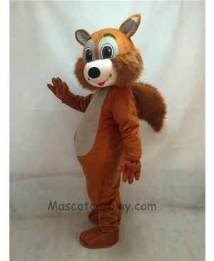 High Quality Adult New Brown Squirrel Mascot Costume with Grey Belly