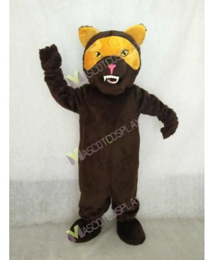 Realistic Adult Brown Wolverine Mascot Costume