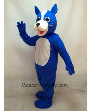 High Quality Adult Blue Dog Mascot Costume