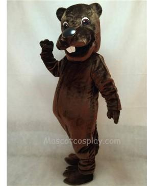 Cute Barney Beaver Mascot Costume