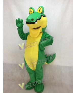 New Green Crocodile Mascot Costume with Yellow Belly