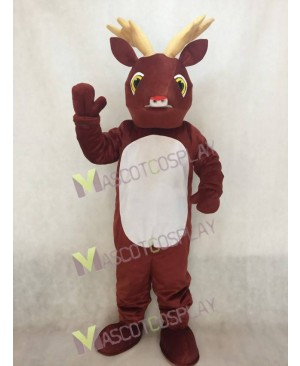Sled Deer with Red Nose Mascot Costume
