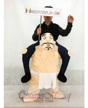 Carry Me Japanese Sumo Costume Ride On Wrestler Piggy Back Mascot Costume