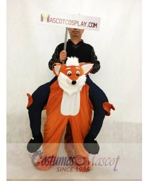 Carry Me Funny Fox Piggy Back Mascot Costume Ride On Fox Fancy Dress