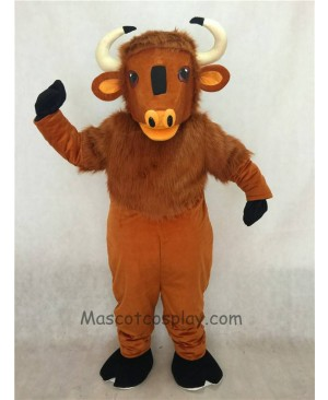 High Quality Adult Friendly Brown Buffalo Mascot Costume