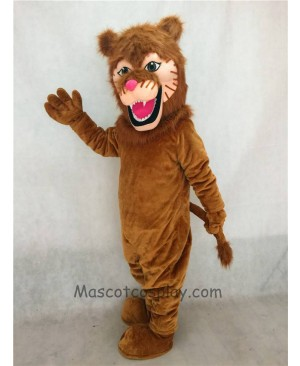 High Quality Adult Fierce Lion Mascot Costume with Mane