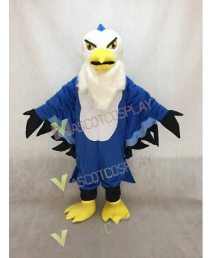 Fierce Blue Thunderbird Mascot Costume