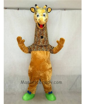 High Quality Adult Realistic New Friendly Giraffe Mascot Costume
