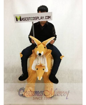 Carry Me Illusion Costume Kangaroo Ride On Piggy Back Mascot Costume