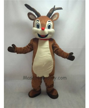 Cute New Red Nose Rudolph Reindeer Mascot Costume
