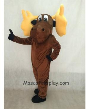 Cute Cartoon Moose Mascot Costume