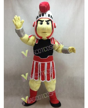 Custom Color Red and Black Spartan Trojan Knight Sparty Mascot Costume