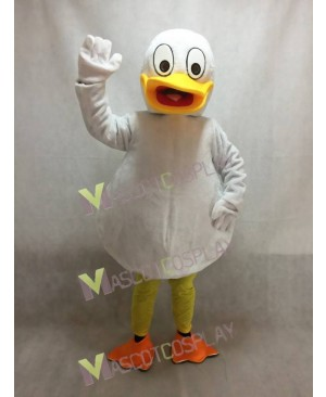 White Duck Mascot Costume with Yellow Beak
