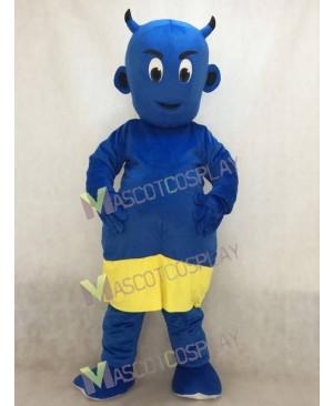 New Blue Lil Devil Mascot Costume