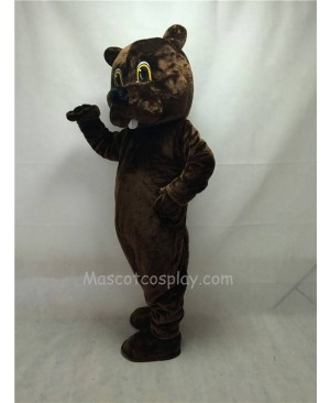 Cute New Brown Woodchuck Mascot Costume