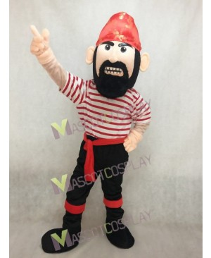 Adult Beard Pirate Mascot Costume