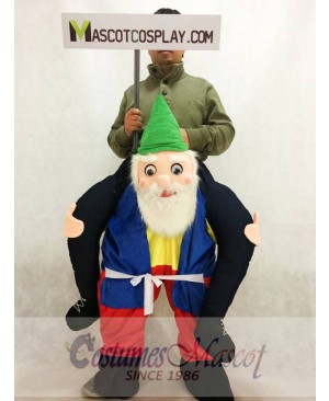 Garden Gnome Carry Me Mascot Ride Costume Back Shoulder Stag Fancy Dress