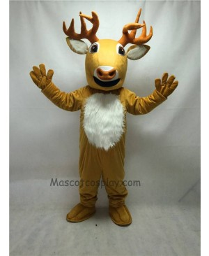 Cute New Long Horn Deer Mascot Costume
