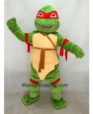 High Quality Red Raphael TMNT Teenage Mutant Ninja Turtle Mascot Adult Character Costume Birthday Party Fancy Dress Outfit